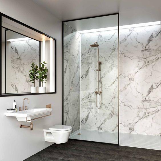 Marble wall for bathroom