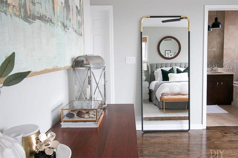 Diy Hanging Full Length Mirror On The, Door Mount Mirror Full Length